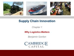 Benjamin Gordon on Supply Chain Innovation: Why Logistics Matters